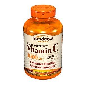 Sundown Naturals High Potency Vitamin C, 1000Mg, Caplets 250 Ea