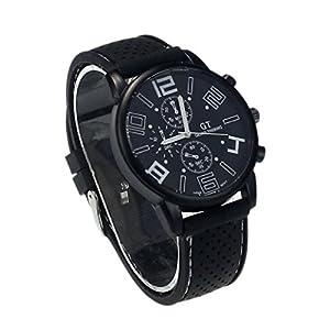 New Mens Stainless Steel Luxury Sport Analog Quartz Clock Wrist Watch