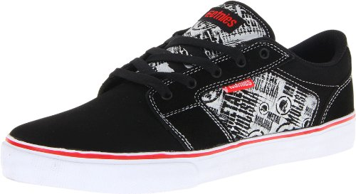 Etnies Men's Metal Mulisha Barge LS Skate Shoe,Black/White/Red,11.5 D US