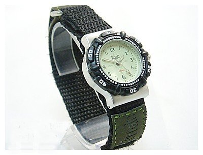 Boys/Teenagers Light Green Terrain Boardrider Sports Surf Watch-Velcro Strap+Rotating Bezel-50m Water Resitant-973l