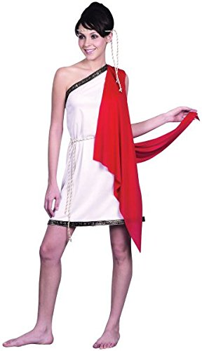 Bristol Novelty White/Red Toga. Ladies Adult Costume - Women's - One Size
