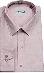 Chairman Men's Cotton Shirt (romch9145gajari_38, Light Pink, 38)