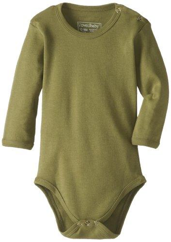 L'Ovedbaby Unisex-Baby Newborn Organic Long-Sleeve Bodysuit, Sage, 9/12 Months front-693040