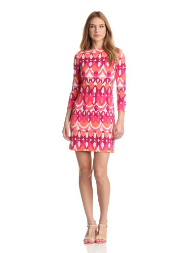 Ali Ro Women's Jersey with Back Detail Dress, Watermelon Multi, 8