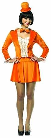 Rasta Imposta Dumb And Dumber Lloyd Skirt Suit, Orange, Adult 4-10