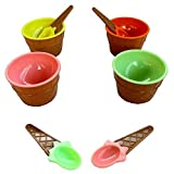 Dazzling Toys Plastic Ice Cream Dishes - Set Of 12 (D170)