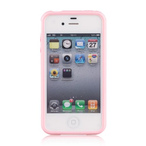 Gadgetsevil Jelly Mercury Tpu Case For Iphone 4 (Pink)