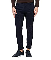 Rigo Navy Blue Slim Flat Trouser