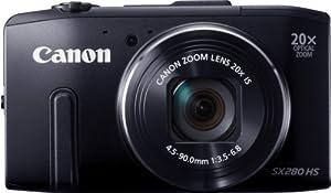 Canon PowerShot SX280 HS Appareil photo numérique compact 12,1 Mpix Zoom optique 20x Noir