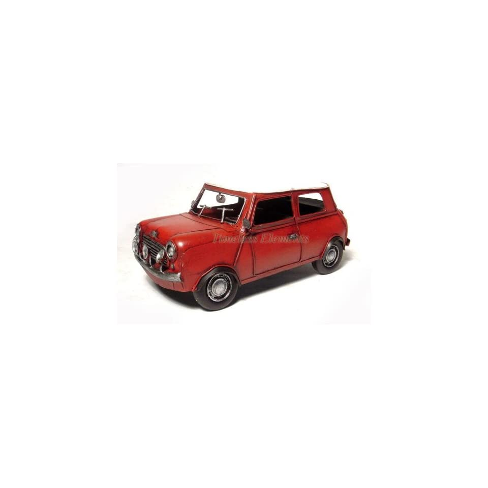 Red mini cooper monte carlo sports car model display