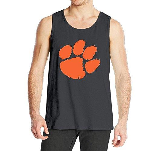 Men's Clemson University Tiger Football Paw Logo Tank Top Black