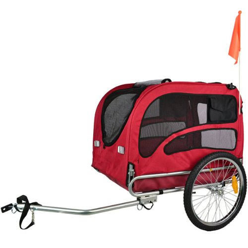 Orignial Doggyhut Large Pet Bike Trailer Dog Bicycle Carrier Red 6030201 front-156193