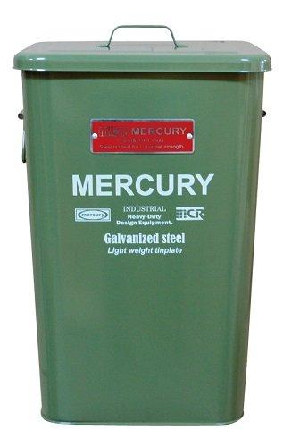 MERCURY マーキュリー スクエア ダスト ビン ブリキ製 ゴミ箱 OLIVE GREEN オリーブ グリーン