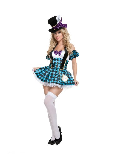 Starline Mad Hatter Costume, Blue/Black, Medium
