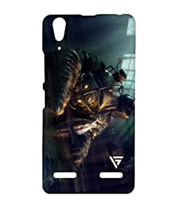 Vogueshell Robot Cartoon Printed Symmetry PRO Series Hard Back Case for Lenovo A6000