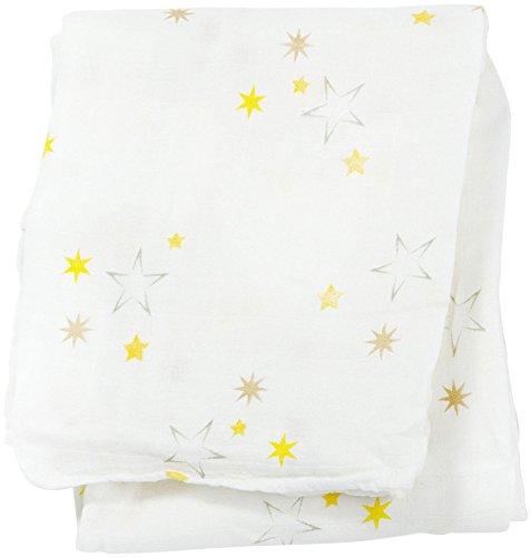 """Lulujo Baby Bamboo Muslin Swaddling Blanket, Twinkle, 47"""" x 47"""""""