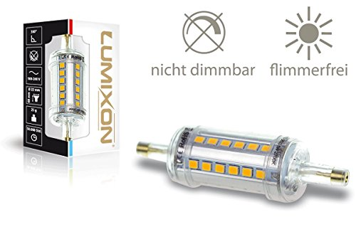 LUMIXON-LED-R7S-78mm-600-Lumen-4000K-Natural-360-Leucht-Winkel-Acryl-Gehuse-IP44