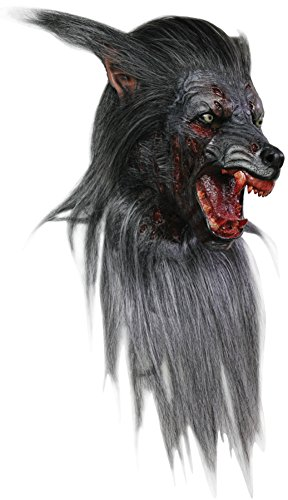 Black Wolf Scary Beast Monster Horror Latex Adult Halloween Costume Mask