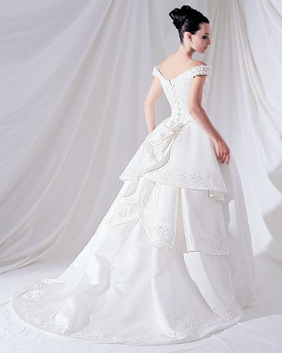 Saison Blanche Couture White Plus Size 18 Formal Bridal Gown Wedding Dress