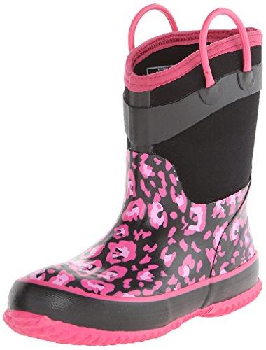 Western Chief New Leopard Rain Boot (Toddler/Little Kid/Big Kid),Black,4 M Us Big Kid front-800536