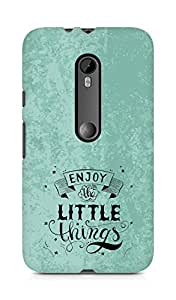 AMEZ enjoy the little things 2 Back Cover For Motorola Moto G3