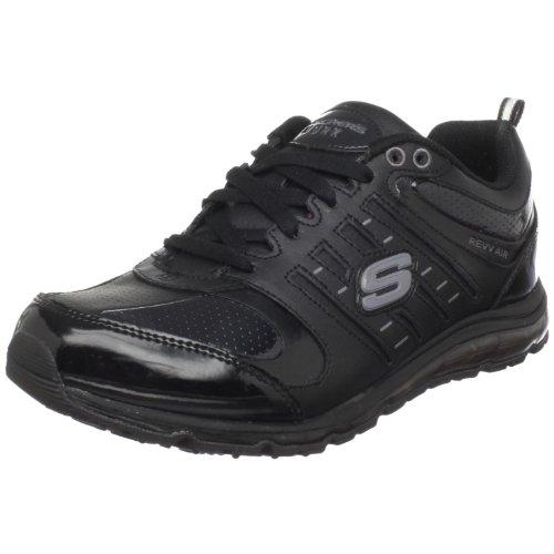 Skechers For Work Women'S Air-Revvolution Sneaker,Black,7.5 M Us