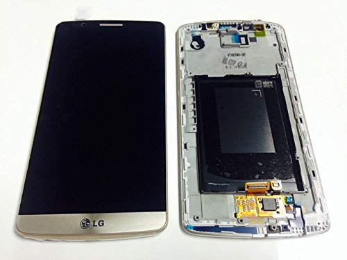 Oem For Lg G3 D850 D851 D855 Ls990 Lcd Display Touch Screen Digitizer Glass Assembly With Frame Replacement Parts, Dhl Shipping (Black/Gold)