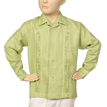 Irish linen long leeve lt. Sage shirt for boys. Final sale