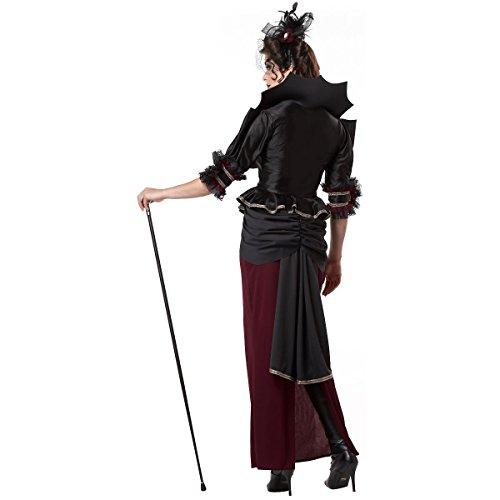 [GSG Vampire Costumes for Women Adult Victorian Steampunk Halloween Fancy Dress] (Gothic Ballerina Halloween Costumes)