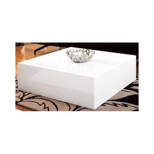 Square Block Coffee Table White
