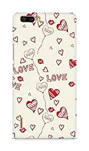 Amez designer printed 3d premium high quality back case cover for Huawei Honor 6 Plus (Love And Kiss)