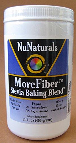 Nunaturals Morefiber Stevia Baking Blend Dietary Supplement - 14.11 Oz