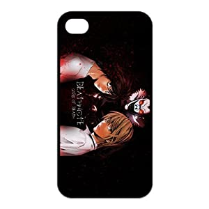 First Design Popular Japanese Anime Death Note Light Yagami Kira and L Unique Durable Rubber Iphone 4 4s Cover Case