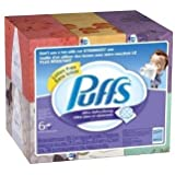 Puffs Ultra Soft and Strong Facial Tissues Super Saver Pack, 124-Count Family Boxes (Packaging May Vary), 18 Boxes-(124 tissues each)
