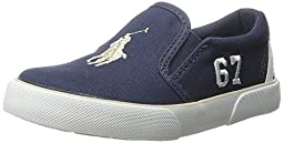 Polo Ralph Lauren Kids Victory Fashion Sneaker (Toddler), Navy/Khaki, 9 M US Toddler