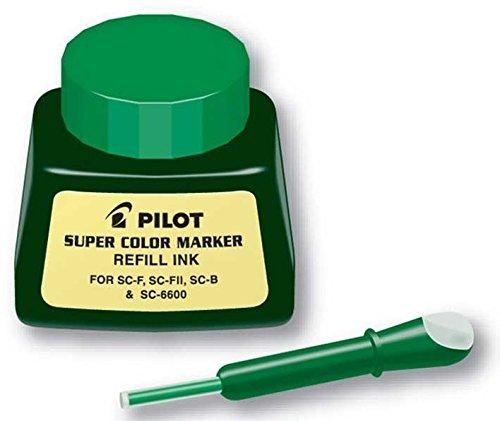 Pilot Super Color Marqueur Permanent recharge d'encre 1 once/bouteille avec compte-gouttes (43800 Encre vert)