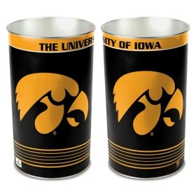 Wincraft NCAA 8117391 University of Iowa Tapered Wastebasket, 15-Inch H