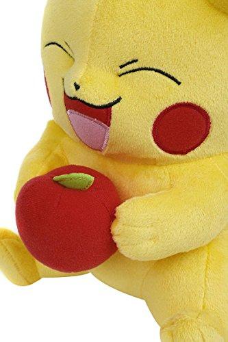 Pokemon-Pikachu-con-Manzana-Peluche-Amarillo
