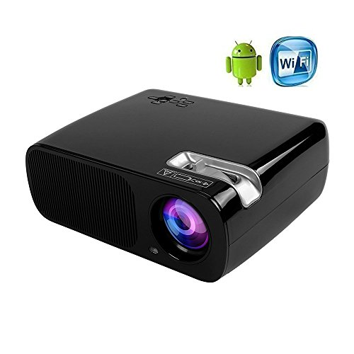 ICopter WIFI Android4.4 LED Projector 800x480 Home Theater 200'' Portable Multimedia Private Cinema support 1080P HDMI TV VGA AV USB YPBPR for Business Meeting Movie Video