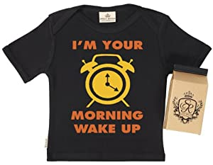 SR - Morning Wake Up Call Baby & Toddler T-Shirt - 100% Bio-algodón - en caja de regalo