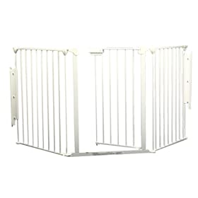 Screen baby gate