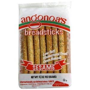 Angonoa's Breadsticks Sesame -- 3.25 oz (Pack of 6)