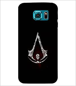 PrintDhaba Skull D-1261 Back Case Cover for SAMSUNG GALAXY S6 EDGE (Multi-Coloured)