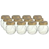 Bormioli Rocco Quattro Stagioni 8 1/2 Ounce Canning Jar Set of 12