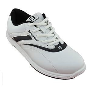 brunswick silk bowling shoes white