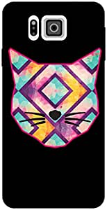 The Racoon Lean printed designer hard back mobile phone case cover for Samsung Galaxy Alpha. (Catitude)