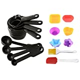8 Piece Measuring Cups & Spoons + 6 Pcs Pack Muffin Mould (any Shape)+ 2 Pcs Silicone Spatula And Pastry Brush...