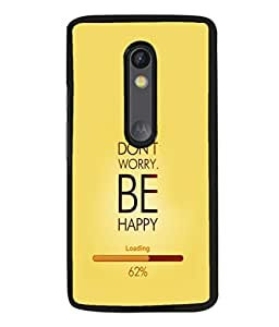 printtech Happy Quotes Back Case Cover for Motorola Moto G3 , Motorola Moto G (3rd Gen)
