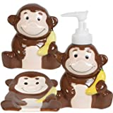 Kids Jungle Friends Stoneware Bathroom Accessories (Monkey)