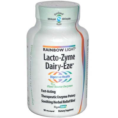 Rainbow Light - Rainbow Light Lacto-Zyme Dairy-Eze - 90 Vegetarian Capsules - Pack Of 1
